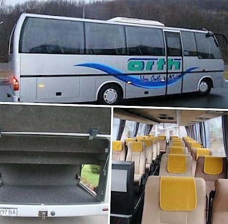Автобус Мерседес Бенз Атего ( 26 мест), направление Ужгород ― Краков под заказ.