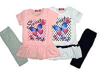 Комплект-двойка для девочки, размеры  2, 4, 5 лет, S&D, арт. CJ-1086