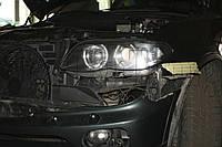 """BMW X5 (E53) - замена линз Hella classic на Moonlight ULTRA G6/Q5 3,0"""" D2S и """"ангельских глазок"""""""