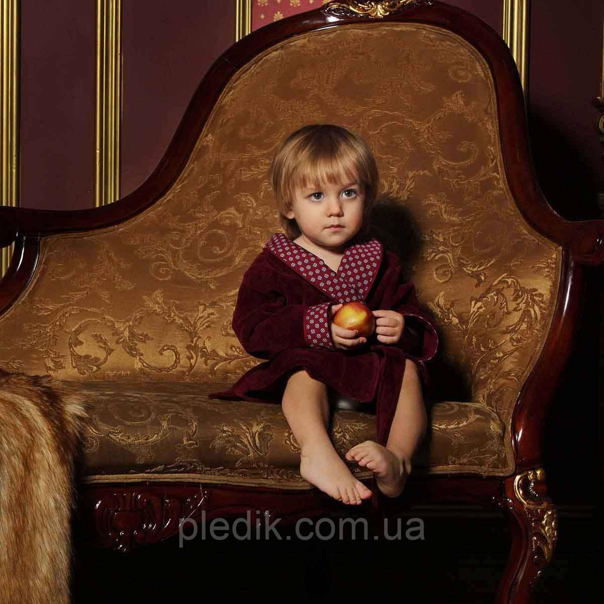 Халат детский махровый для мальчика FLAVIO 9-10 лет.