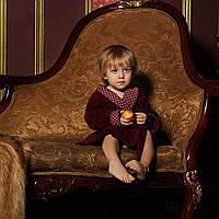 Халат детский велюровый для мальчика FLAVIO 9-10 лет.