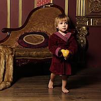 Халат детский велюровый для мальчика FLAVIO 0-12 мес.