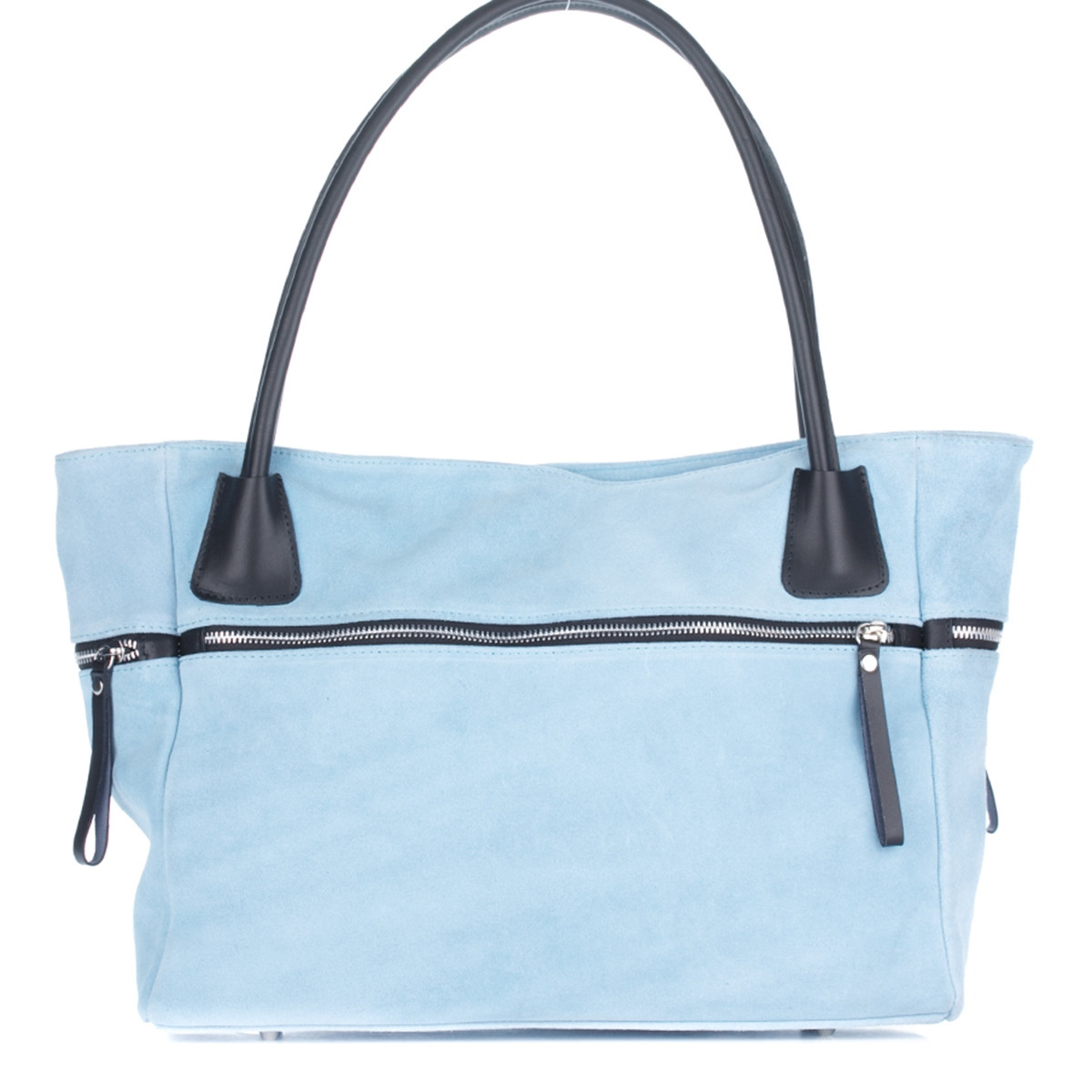 Женская замшевая сумка 1891 голубого цвета Италия
