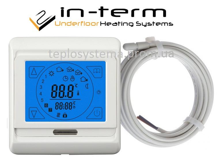 Программируемый сенсорный терморегулятор для теплого пола  In-Term E91 (RTC 89)