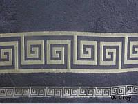 Бамбуковая махровая простыня Arya Grek 200х220 темно-серая