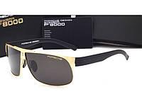 Солнцезащитные очки в стиле Porsche Design  (p-8535) gold, фото 1