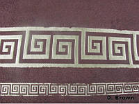 Бамбуковая махровая простыня Arya Grek 200х220 коричневая