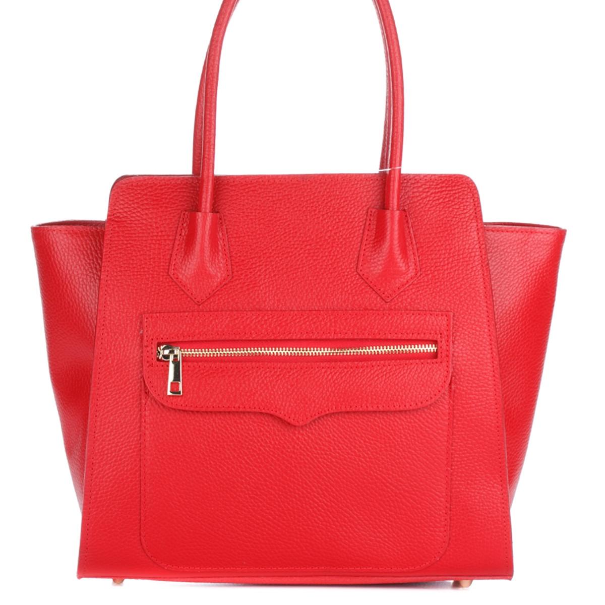 Женская кожаная сумка 1895 красного цвета Италия