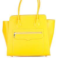 Женская кожаная сумка 1895 желтого цвета Италия