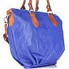 Женская кожаная сумка 2057 синего цвета Италия, фото 2