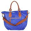 Женская кожаная сумка 2057 синего цвета Италия, фото 3