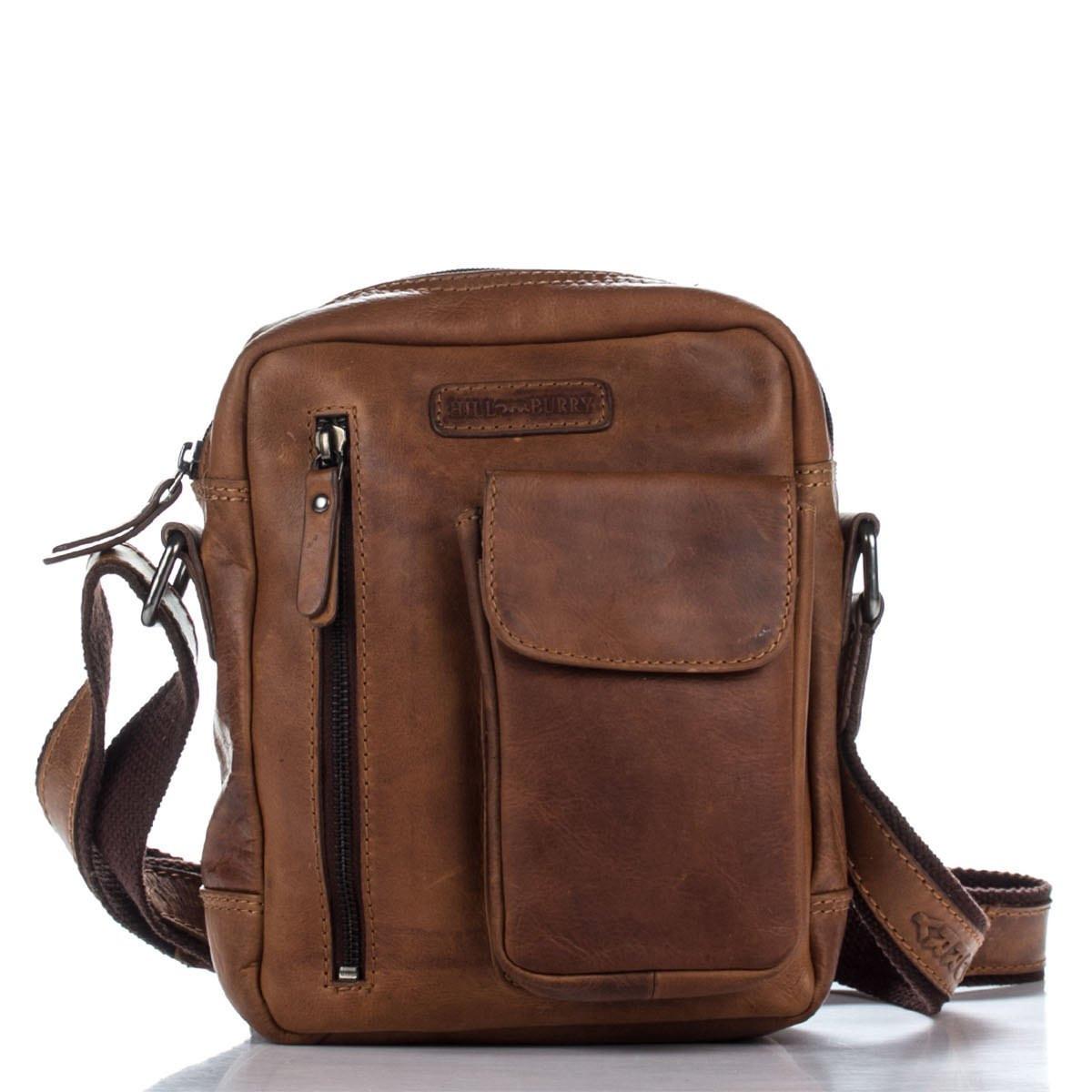 Мужская кожаная сумка 3106 рыжего цвета Италия