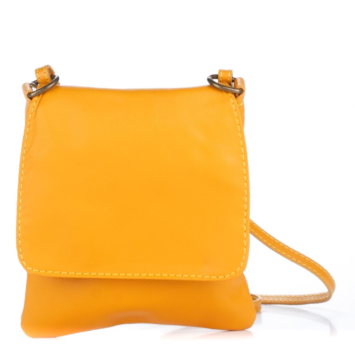 Женская кожаная сумка 505 желтого цвета Италия