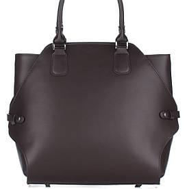 Женская кожаная сумка 8164 коричневого цвета Италия