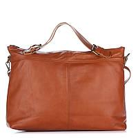 Женская кожаная сумка 8204 рыжего цвета Италия