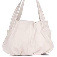 Женская кожаная сумка 8216 молочного цвета Италия