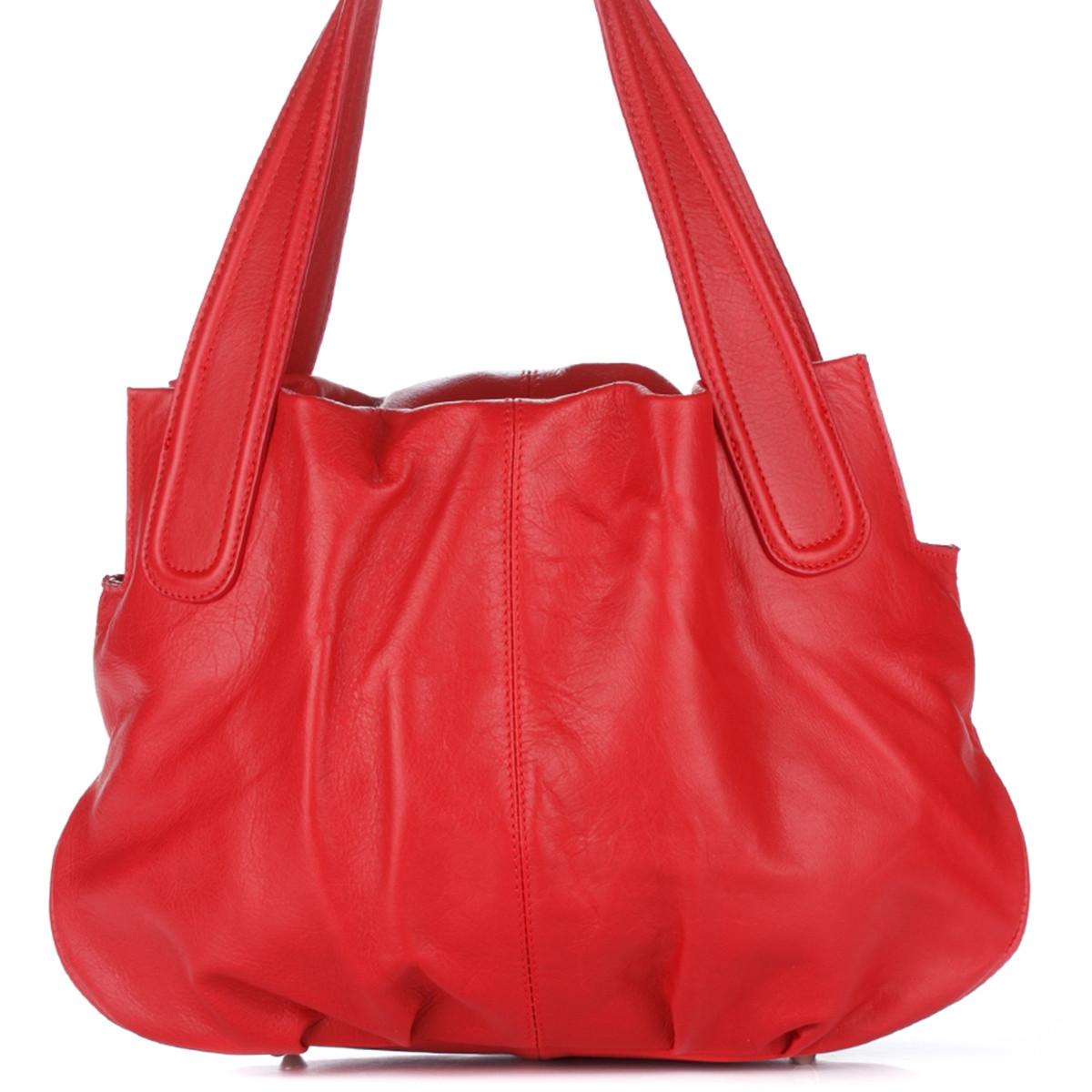 Женская кожаная сумка 8216 красного цвета Италия