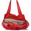 Женская кожаная сумка 8216 красного цвета Италия, фото 5