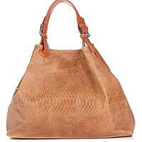 Женская кожаная сумка 898 рыжего цвета Италия