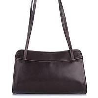 3bf6cca3b723 Женская кожаная сумка 9120 темно-коричневого цвета Италия. В наличии