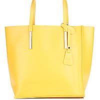 Женская кожаная сумка 992 желтого цвета Италия