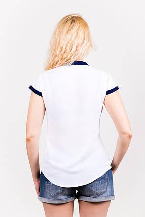 Блузка из шифона 208 белая размер 42, фото 2