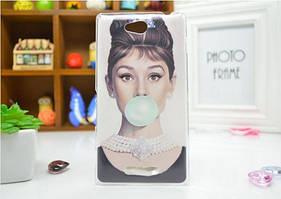 Силиконовый бампер чехол для Sony Xperia S39h C2305 с рисунком Одри