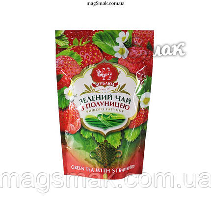 Чай зеленый Верблюд КЛУБНИКА, листовой, 80г, фото 2