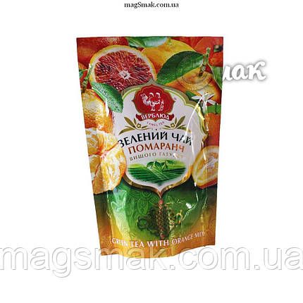 Чай зеленый Верблюд с апельсином , листовой, 80 г, фото 2