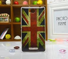 Силиконовый бампер чехол для Sony Xperia S39h C2305 с рисунком Британский флаг