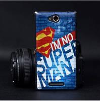 Силиконовый бампер чехол для Sony Xperia S39h C2305 с рисунком Superman