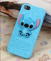 """Голубой силиконовый чехол """"Ститч"""" для Iphone 4/4S, фото 1"""
