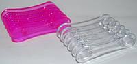 Подставка для кистей прозрачная пластик yre pdk-09, органайзер для кистей  в   -  е