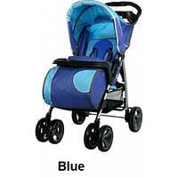 Прогулочная коляска Caretero Monaco - blue,синяя, книжка, дождевик, чехол