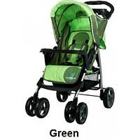 Прогулочная коляска Caretero Monaco - green,зеленая, книжка, дождевик, чехол