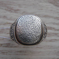 Серебряная мужская печатка с орнаментом, фото 2