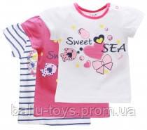 Летняя футболка на девочку 1-2 года Sea