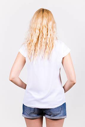 Блузка из шифона 203/1 белая, фото 2