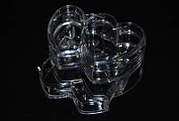 Контейнер для косметики и бижутерии двойной в форме сердца YRE SF-2134, органайзер для косметики