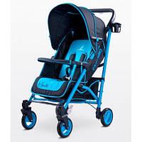 Прогулочная коляска-трость Коляска Caretero Sonata - blue, держатель для бутылочки, дождевик, чехол
