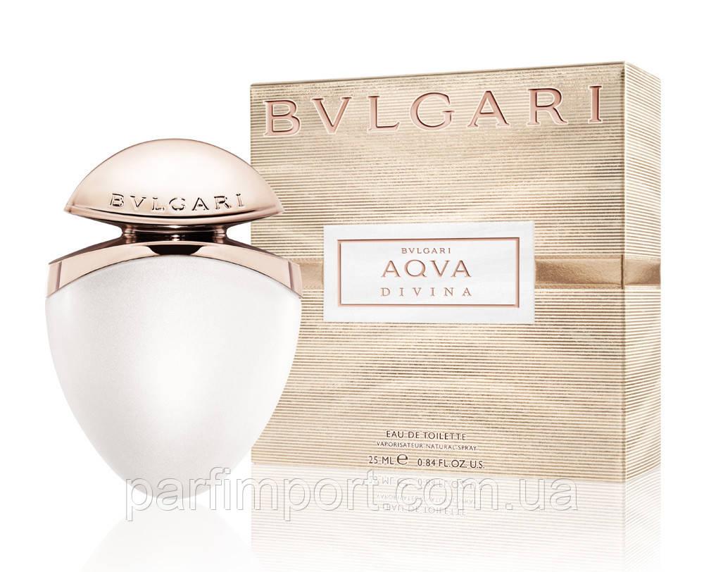 Bvlgari AQVA DIVINA edt 25 ml Туалетна вода (оригінал оригінал Італія)