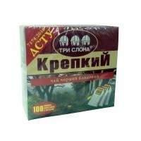 Чай Три Слона КРЕПКИЙ 100 пакетиков