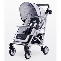 Прогулочная коляска-трость Коляска Caretero Sonata - grey, держатель для бутылочки, дождевик, чехол