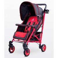 Прогулочная коляска-трость Caretero Sonata - red, держатель для бутылочки, дождевик, чехол