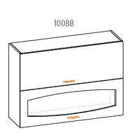 Навесной шкаф Паула 100 верх витрина
