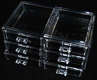 Контейнер для бижутерии пластиковый трехярусный на 6 секций YRE SF-1005-5, органайзер для бижутерии купить