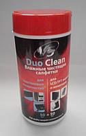 VS влажные чистящие салфетки для пластиковых поверхностей и LCD/TFT в тубе 50+50 шт.