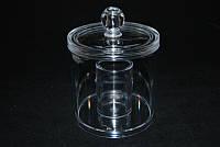 Диспенсер для ватных дисков с крышкой YRE SF-296, баночка для ватных дисков