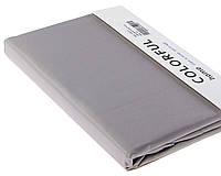 Простыня однотонная 180х240 сатин 02-Серый