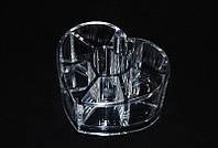 Органайзер для кистей и косметики пластиковый Сердце YRE SF-1057, подставка для косметики купить
